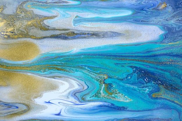 Бирюзовый имитация камня художественного фона. синяя жидкая текстура.