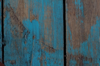 Turquoise recycled wood texture background a little worn.