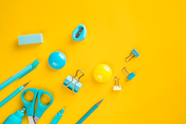 Turquoise school and office basic stationery