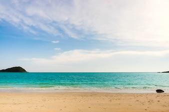 Turquoise sea against sky