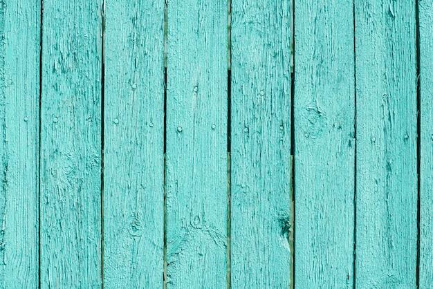 コピースペースと青緑色の木の板の背景