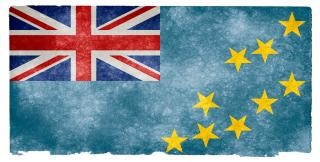 Tuvalu grunge flag  cultural