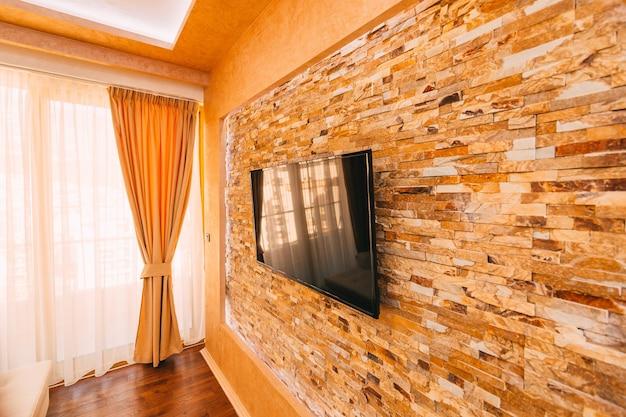 벽에 tv 벽에 걸려 tv