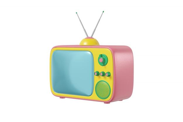 テレビのアンテナ漫画スタイル