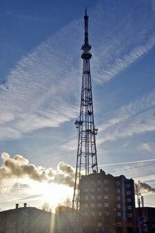 Tv tower at dawn
