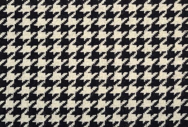 Твидовая ткань из шерсти гусиных лапок в качестве фоновой текстуры