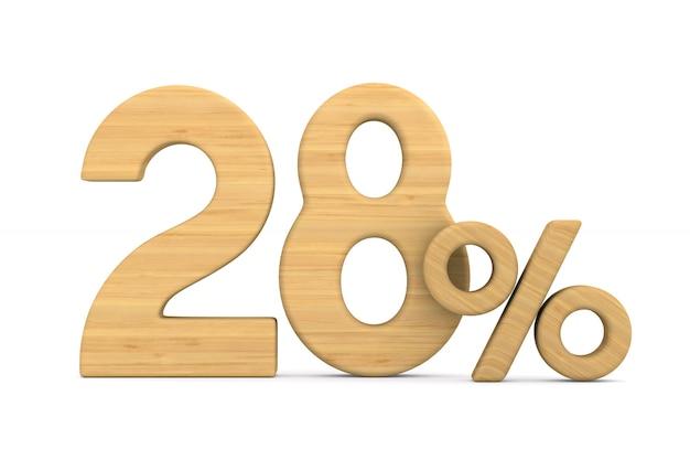 Двадцать восемь процентов на белом
