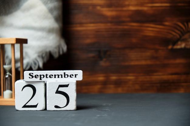 Двадцать пятый день осеннего календарного месяца сентябрь