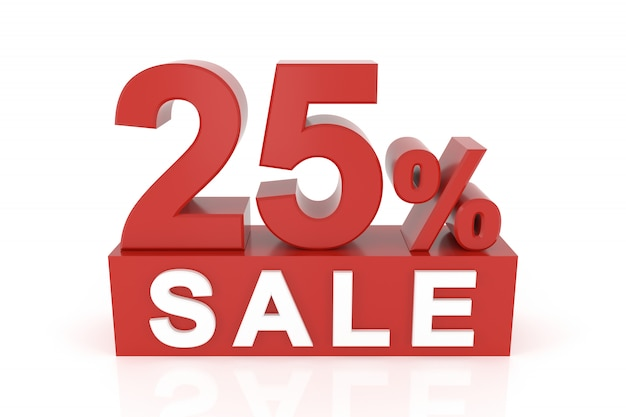 Twenty five percent sale