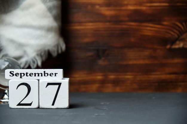 Двадцать седьмой день осеннего календарного месяца сентябрь