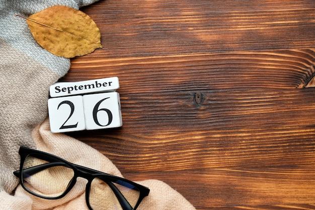 Двадцать шестой день осеннего календарного месяца сентябрь