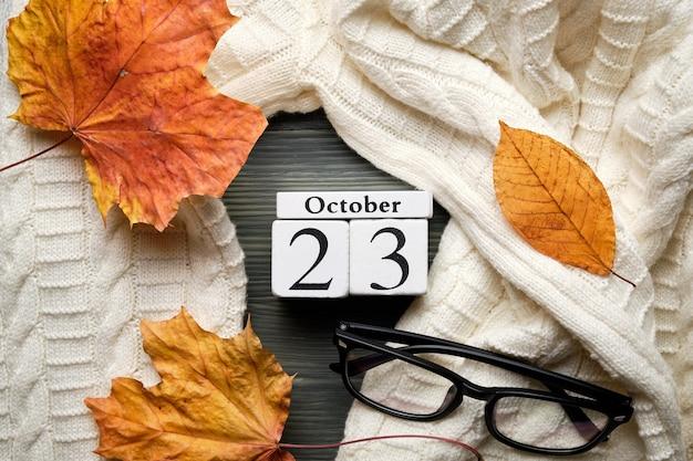 Двадцать третий день осеннего календарного месяца октябрь.