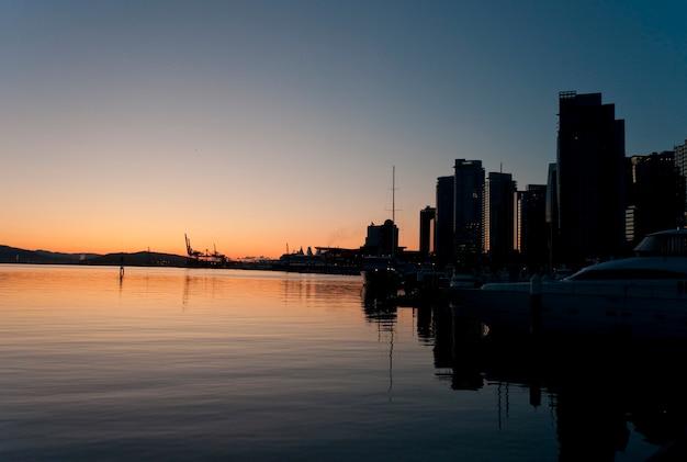 Twilight sky in vancouver, british columbia, canada