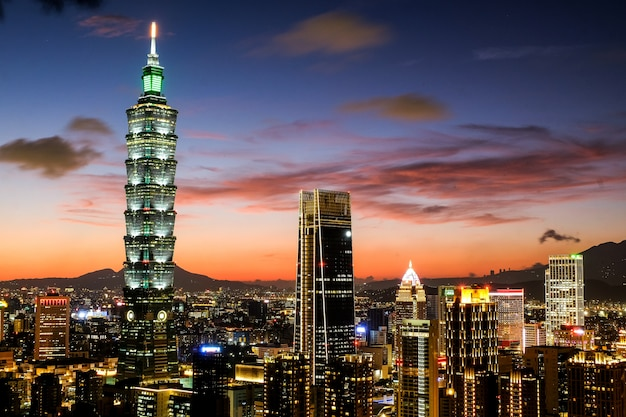 Twilight of taipei 101
