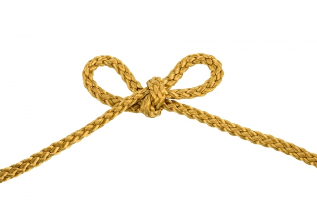 Twine rope bow knot