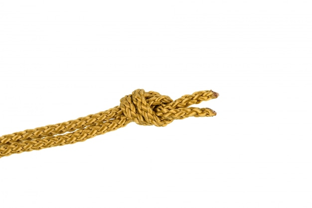 Twine rope with knot