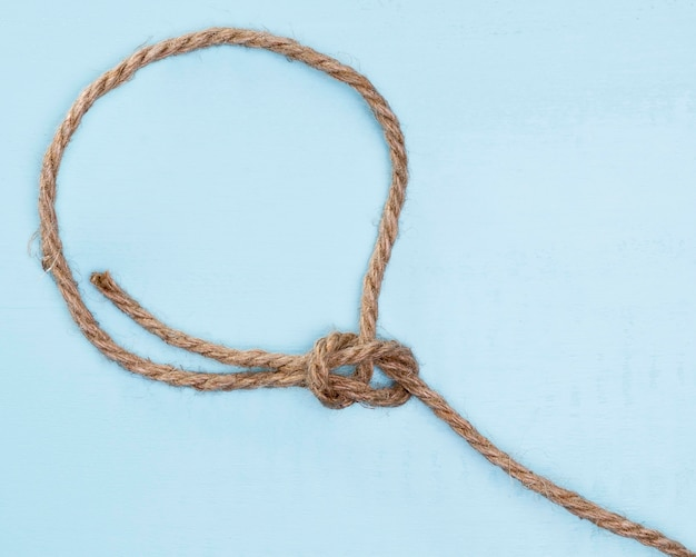 Twine strong beige rope simple knot