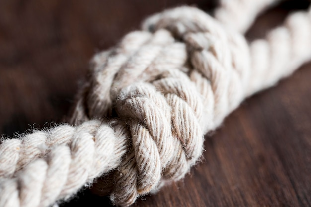 Twine strong white blurred rope