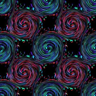 クルクル回す抽象。シームレスなカラフルな抽象的な背景パターン