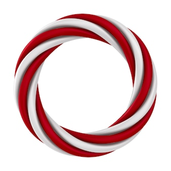 Twisted ring on white background. isolated 3d illustration
