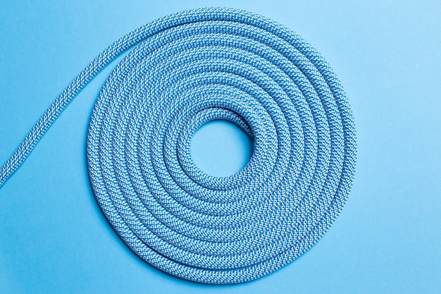 Twisted rope on a blue background.
