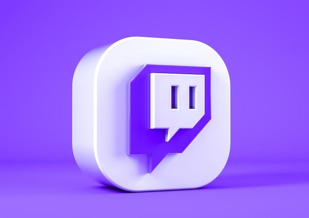Значок twitch на сиреневом фоне
