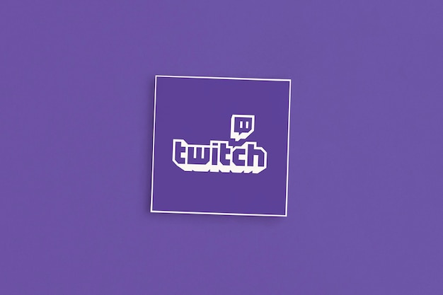 Twitch logo on a pink background
