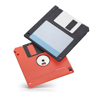 3.5 インチのフロッピー ディスクまたはディスケットを 2 枚分離