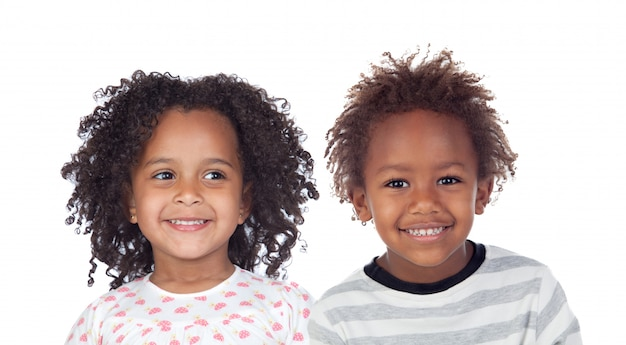 Two afro american children