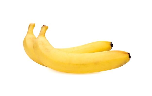 Два банана, изолированные на белом фоне