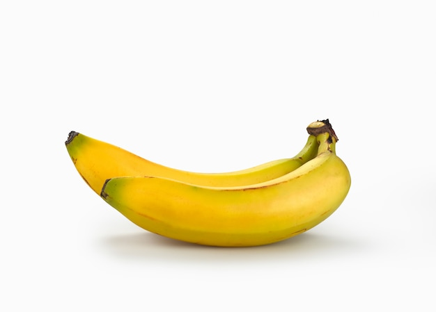 Two bananas isolated on white