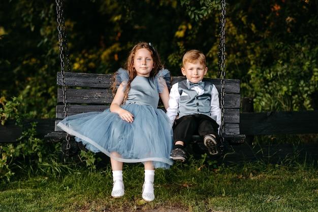 2人の美しい子供たち