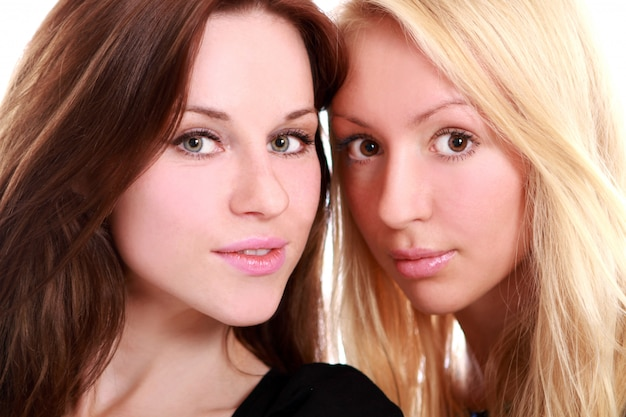 Two beautiful womanfriends