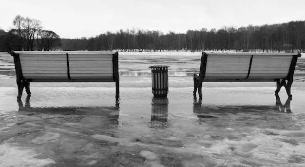 Two benches