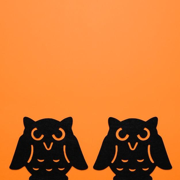 2つの黒いフクロウ