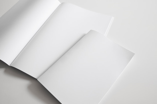 Two blank booklets
