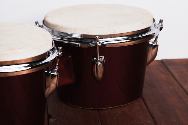 Two bongo drums