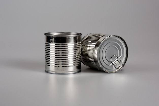 Two cans isolated
