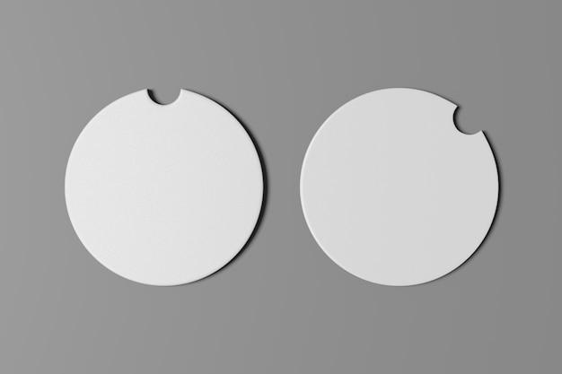 Подстаканник на две машины, подставка для кружки подставка для круга из белой бумаги с местом для текста