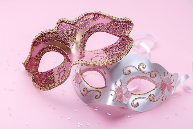 Two carnival masks