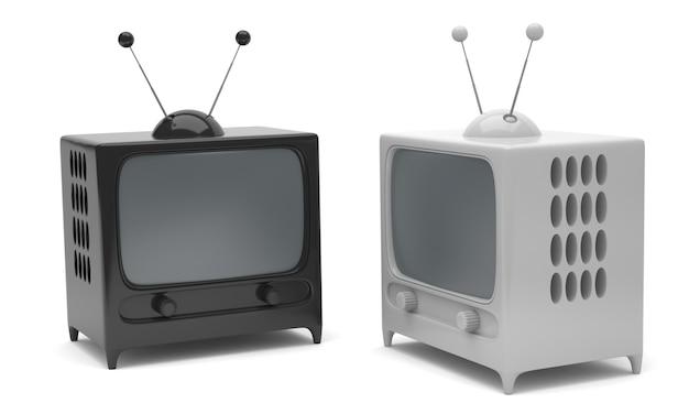 2つの漫画スタイルのテレビ