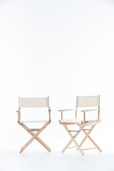 Two chairs in white.