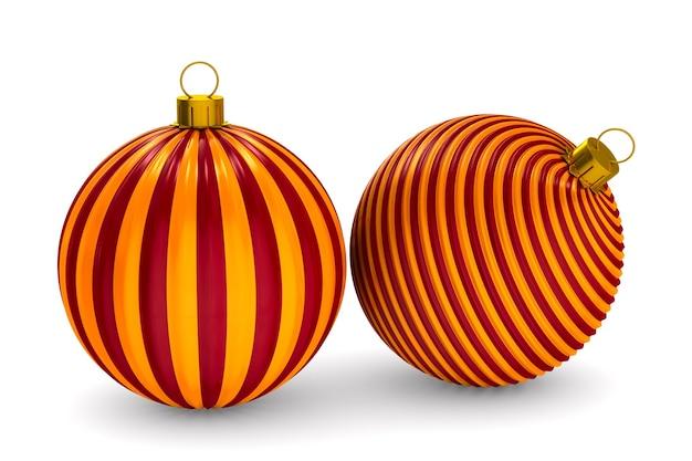 공백에 두 크리스마스 장난감입니다. 격리 된 3d 그림