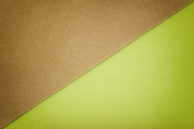 Two color background brown and green shade.