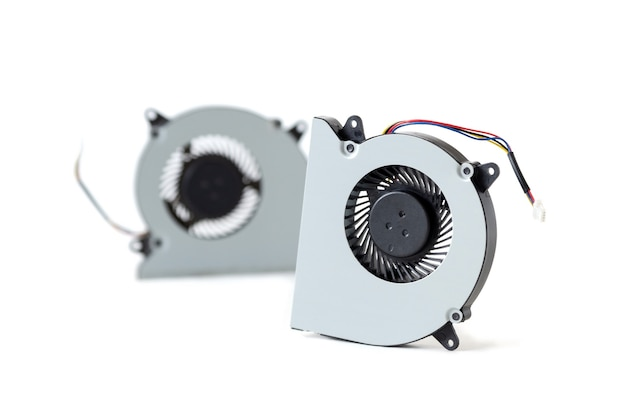 Two computer coolers isolated