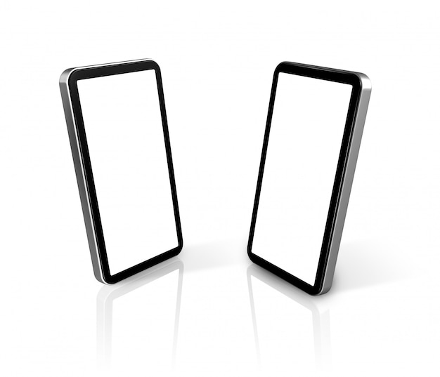 Two connected mobile phones