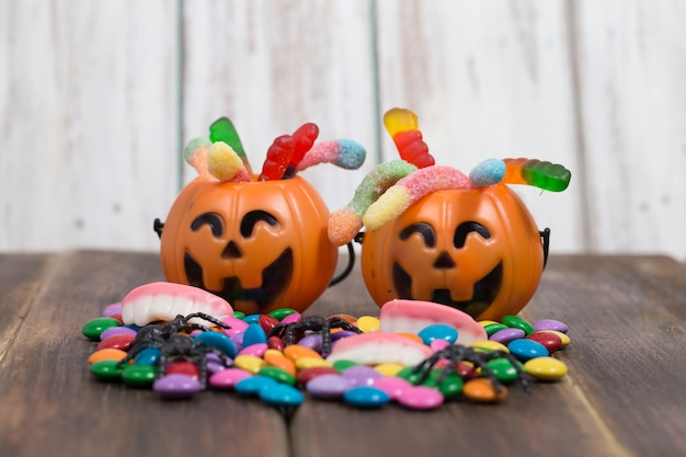 Two cute trick or treat baskets