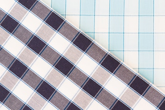Two different check fabric texture diagonal lines seamless pattern
