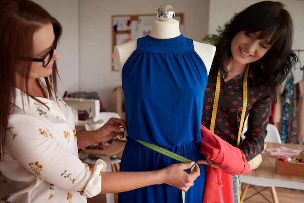Two dressmakers and their project