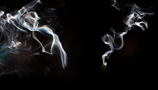 Two dynamic smoke silhouettes